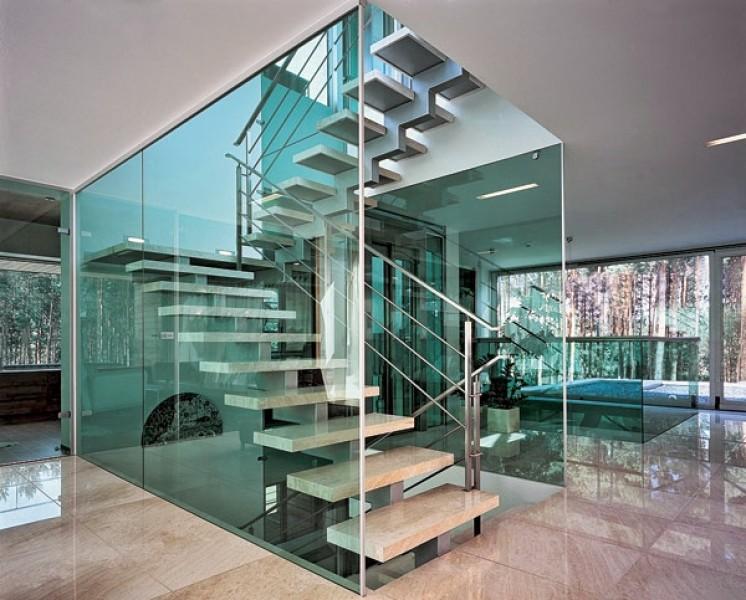 Изделия из стекла в интерьере